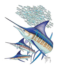 Guy Harvey Marlin Jumping