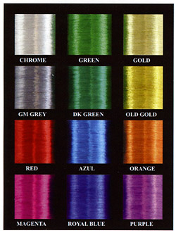 RodSmith Metallic Thread colors